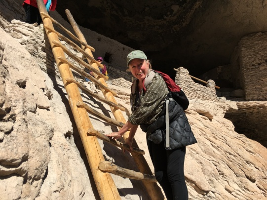 Karen at Gila Cliff Dwellings